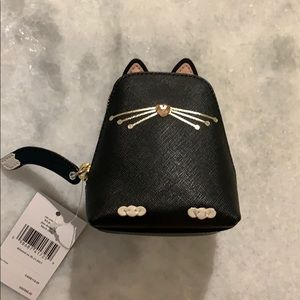 kate spade Jazz Things Up cat coin purse NWT
